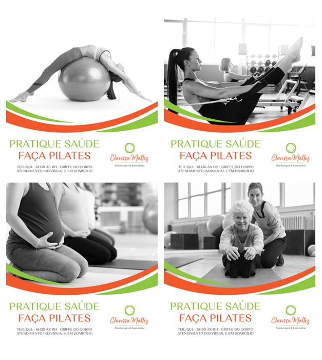 Campanha Pilates | Cards + Conteúdo